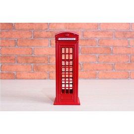 TwinS英倫風 英國紅色電話亭 存錢筒18cm 拍照背景 造景