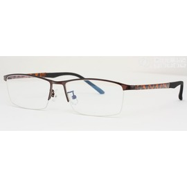 F0800105~不鏽鋼 TR90鏡腳眼鏡 複合 半框  夏蒙CHARMANT~Z外之新選