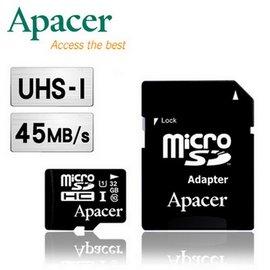 Apacer宇瞻 32GB MicroSDHC UHS-I Class10 45MB s傳