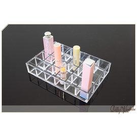 ~Dolly 館~╮ 製壓克力製品24格透明口紅收納置物盒 化妝品收納 睫毛膏盒 2004