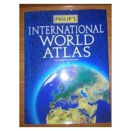 2手書 PHILIP'S INTERNATIONAL WORLD ATLAS 原文書 9成