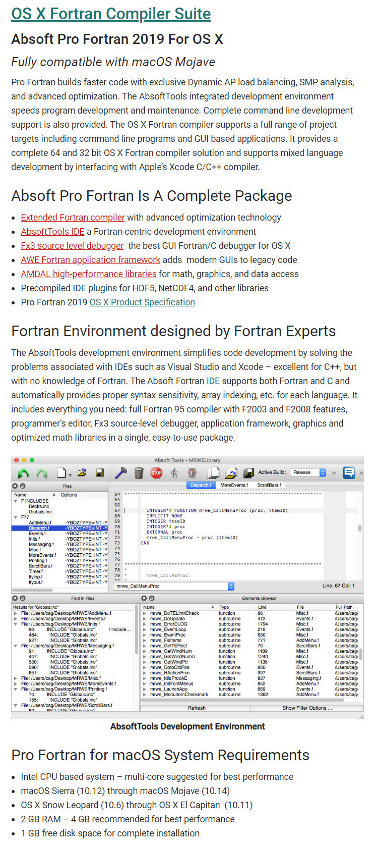 Absoft #Pro #Fortran 2019 For OS X (歡迎詢價) - Fully