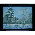 LOMONOSOV 雪之景俄羅斯寶石風景畫