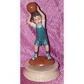 CAROL1524 陶器籃球員音樂盒