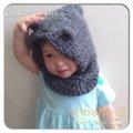 Cutie Bella手工編織連帽脖圍Bear-Gray