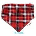 ◇【領巾】典雅風斜格紋領巾(藍/紅/卡其色)-大型犬領巾.請選色.如該色缺則隨機出貨