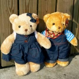 泰迪熊Teddy_boy&Teddy_girl情侶對熊(大)