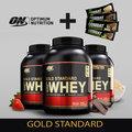 美國 ON Optimum Nutrition 奧普特蒙 金牌級低脂乳清蛋白/五磅)◤加◢  MusclePharm Combat Crunch Bar 能量棒1條裝 (組合包)