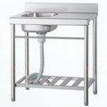 《日成》不�袗�陽洗台-小槽+平台 (寬72×深56*槽深16cm)