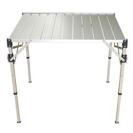 <買桌子即贈桌巾!> 新型 830H 中型鋁合金可調整蛋捲輕巧桌(三段式)/ (附收納袋)/ 台灣製鋁捲桌/ 可調高低.快速組裝