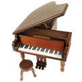 原木鋼琴音樂盒