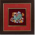 鹿港窯-台灣國寶交趾陶開運裝飾壁飾-立體框【 L龍戲珠 】