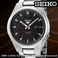 SEIKO 精工手錶 國隆 SNK617K1 (黑色款)盾牌五號 自動上鍊機械錶(另SNK613K1白色款)一年保固 開發票