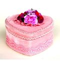 【玫瑰物語】古典藝術新娘紅色珠光寶氣#2號小首飾盒-淺粉 (心形)  精緻珠寶盒包裝製物禮盒