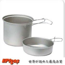 【日本製 EPI EPIgas】BP超輕鈦合金鍋組(煎盤)-L.炊具.鈦鍋組(一鍋一蓋).茶壺 T-8006