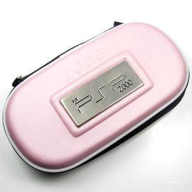 SONY PSP2000硬殼包 PSP收納包 鋼牌硬殼主機包 防撞包內置手提吊繩 PSP-012 淺紅色
