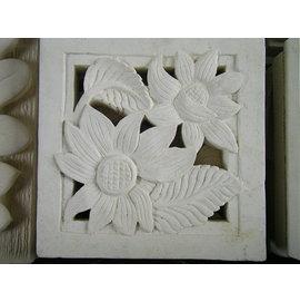 △峇里島砂岩 太陽窗花30x30x5CM 石雕片~壁飾花磚砂岩 石雕片 花磚 壁磚