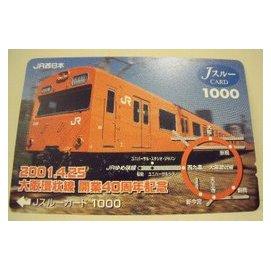 【二手好物交流品】日本大阪環狀線開業40週年火車儲值卡