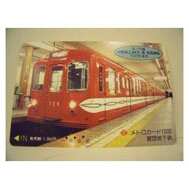 【二手好物交流品】日本500型車輛火車儲值卡