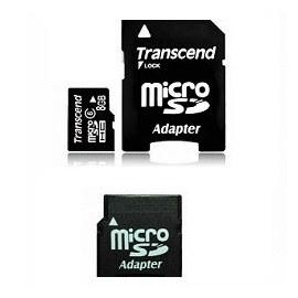 創見8GB記憶卡 MICRO SDHC CL6 with miniSD  SD adapter