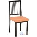 P698-12 角管排骨椅(橙皮)(烤黑)