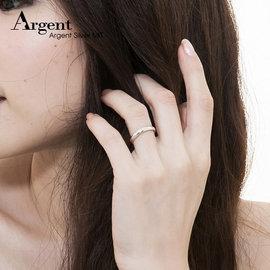 【ARGENT銀飾】美鑽系列「藏鑽(3mm)-無刻字版」純銀戒指(版寬3mm)-可加購刻字表心意