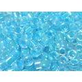 2mm古董珠-M-五彩亮澤水晶中管水藍(5g約450顆/ 份)