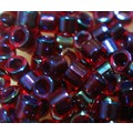 2mm古董珠-M-特殊亮澤透紅中管藍(5g約450顆/ 份)