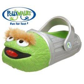 《絕版出清特賣》【Polliwalks】創意童鞋*芝麻街Oscar綠