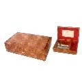 奧菲司五十音梳木質音樂珠寶盒(卡農,棕色)