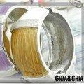 年元素跨年紅白舞台明星賽♡Hand Chain(silver)♡o(白和咖啡相間)
