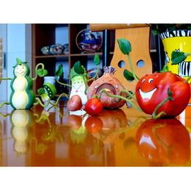 《歐洲花園》田園蔬果四件擺飾組合