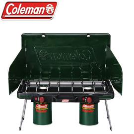 美國【Coleman】CM-6707瓦斯雙口爐★ 滿額送好禮★ 瓦斯爐/ 爐具/ 不鏽鋼材質/ 自動點火/ 偉盟公司貨