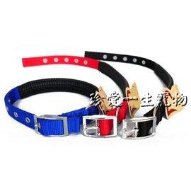 Mourchain八分尼龍舒適頸圈 中大型犬  _黑色、紅色、藍色犬用項圈
