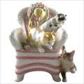 雙貓單狗與藤椅音樂鈴HE-102-176C