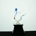 【銘昇玻璃藝品社】指引木座獎座(含金箔銘版提字)~~尺寸9.5*13*23cm