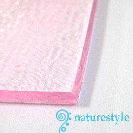 COE96粉紅色透明玻璃3mm/10x10cm