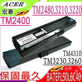 ACER 電池(保固最久)-宏碁電池-TravelMate 2400電池, 2480, 3210電池, 3220電池,  BATEFL50L6C40 系列ACER筆電電池