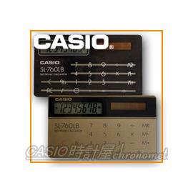 【促銷款】CASIO 時計屋 卡西歐計算機 攜帶型計算機 SL-760L  超薄名片型 雙色8位數 全新 保固 附發票