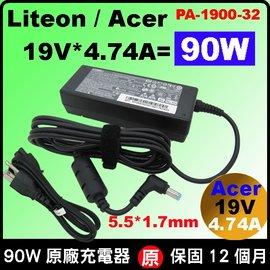 Acer充電器(原廠)宏碁變壓器 90W 19V 4.74A, TM 4000 4010 4020 4050 4060 4070 4080 4100 4150 4200 4210 4220 4230...