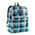★大包小包★ JANSPORT SUPER BREAK系列校園後背包-7ZB 淡藍格紋