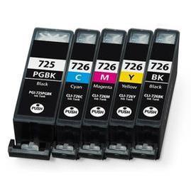CANON相容墨水匣PGI-725BK CLI-726BK CLI-726GY CLI-7