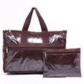 LeSportsac 週末中旅行袋(附化妝包)-閃亮紫