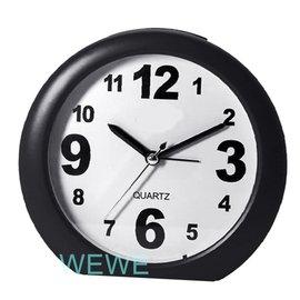 俏 神奇超靜音時鐘鬧鐘 掃秒 指針式 易操作 讓你睡得好 2種雙鬧鈴聲 貪睡叫醒 LED小夜燈