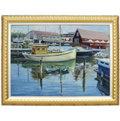 丹麥Roskilde風景畫-2(羅丹畫廊)含框68X87公分(藝術微噴加手繪)