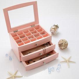 日式の粉紅佳人 AccessCo 首飾珠寶收藏箱