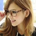 【Lady c.c.】率性方框無鏡膠框眼鏡(豹)