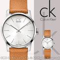瑞士 CK手錶 Calvin Klein 女錶 國隆 K2G23120 張鈞甯 2012最夯 時尚橘色皮革錶帶 弧形切面石英女錶 一年保固 開發票
