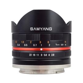 Samyang 鏡頭專賣店: 8mm F2.8魚眼鏡頭II(For FUJI X-pro1黑色) 義文公司貨 ( 三個月保固 )