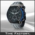 【時間工廠】 CITIZEN 光動能水晶玻璃三眼膠帶造型計時表 CA0288-02E
